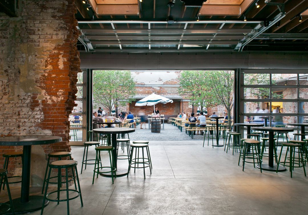 A beer garden philly style hidden city philadelphia for Garage door repair philadelphia