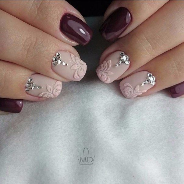 гель-лак фото ногтей с рисунками осень