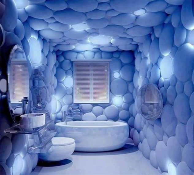 bubble bathroom feels like inside an igloo 10 Amazing Ideas For 3D
