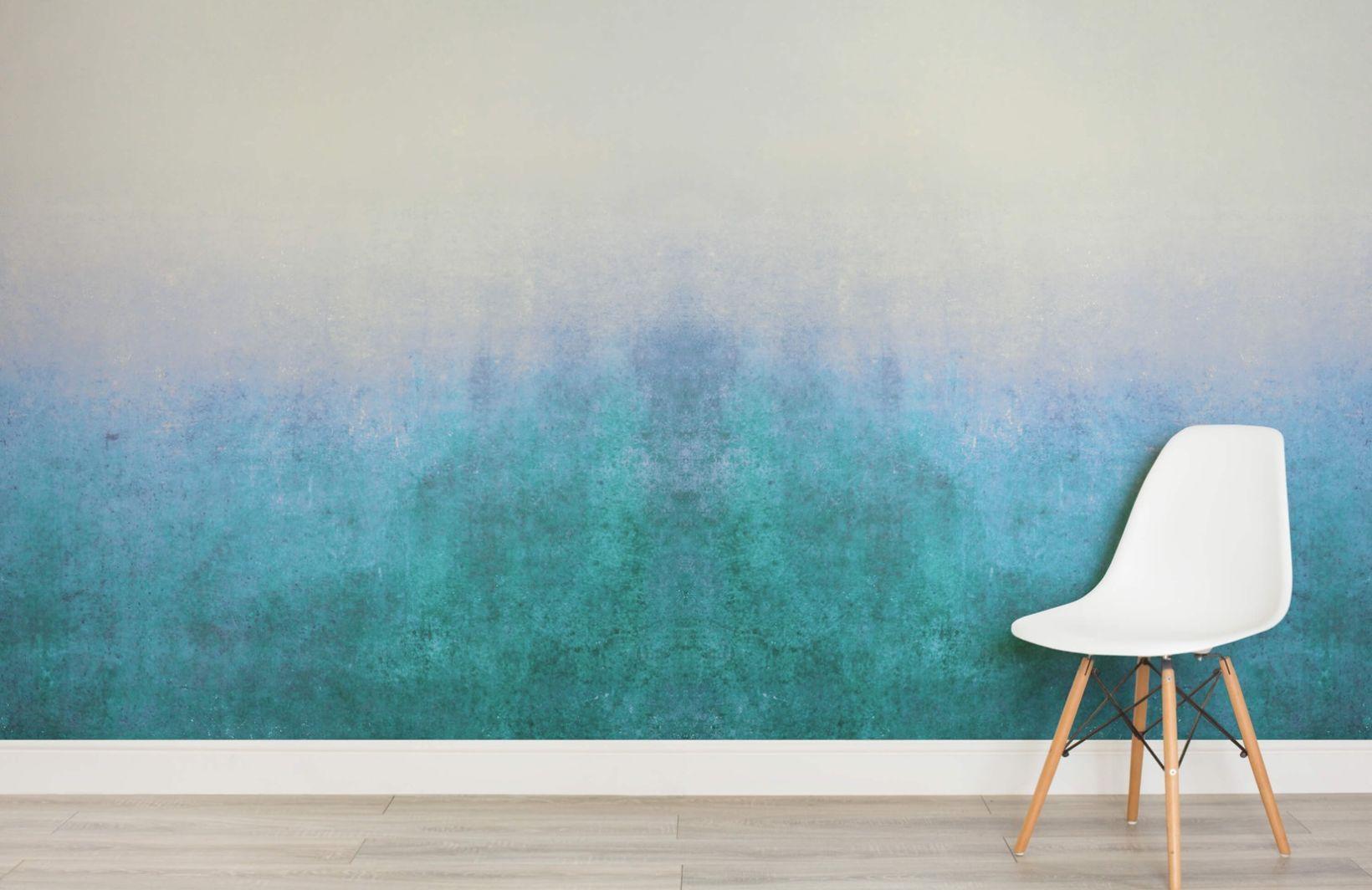 Blue Grunge Ombre Wallpaper Mural Wall murals, Ombre