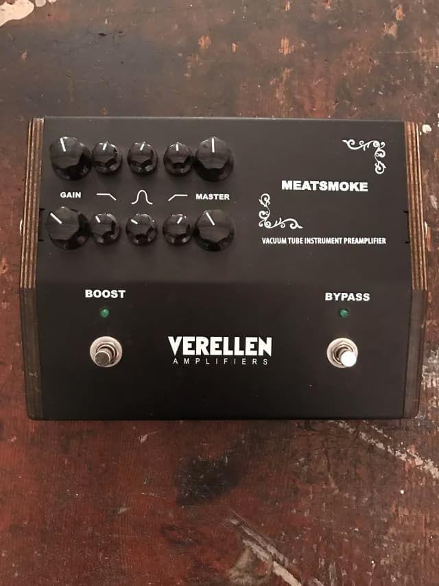 Verellen Meatsmoke Dual Channel Vacuum Tube Instrument Preamplifier Reverb Guitar Pedals Guitar Effects Pedals Effects Pedals