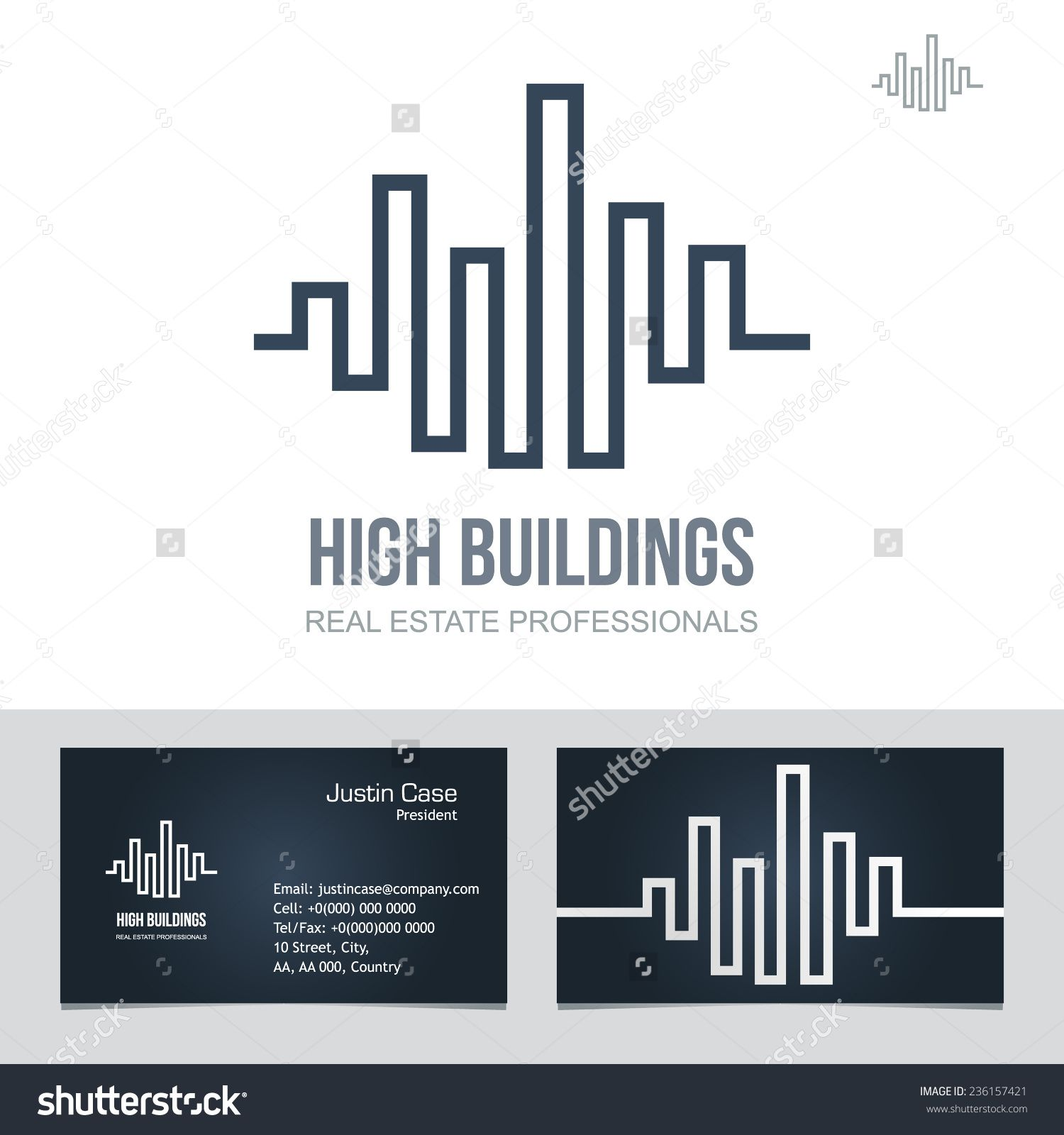 real estate business sign business card vector template for