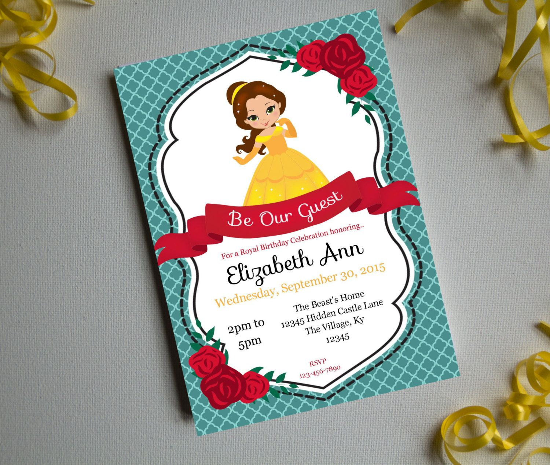 A Belles BirthdayPrintable InvitationBirthday Party Invite