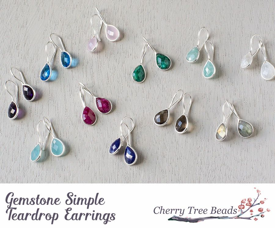 Gemstone Simple Teardrop Earrings | Jewelry | Pinterest | Jewelry ...