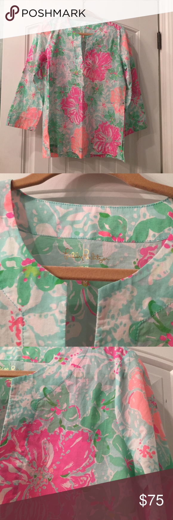 Lilly Pulitzer NWT Beachwalk Amelia Island Tunic M Poolside Amelia Island Beachwalk Tunic Lilly Pulitzer Tops Tunics