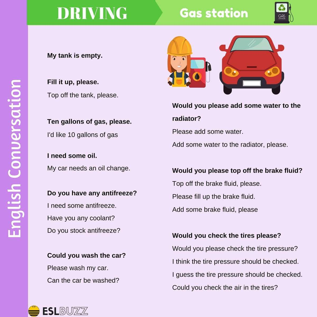 Useful Phrases To Talk About Driving