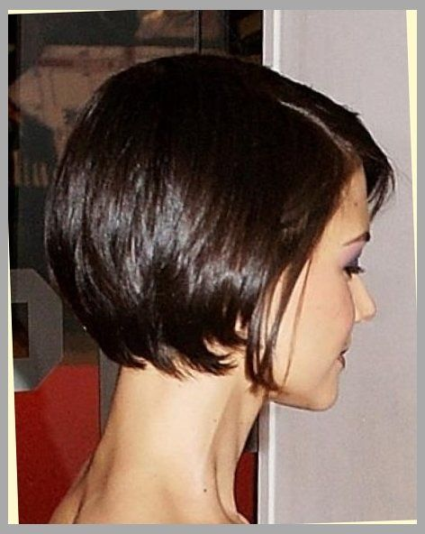 The Stylish katie holmes bob haircut back view Intended for