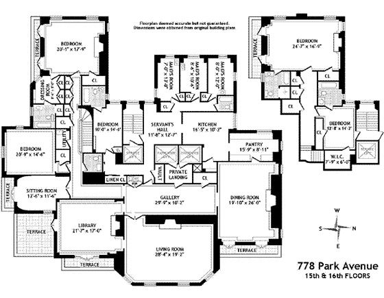 Today in Class Envy Brooke Astoru0027s Park Avenue Floor Plan Park - fresh 37 blueprint apartments