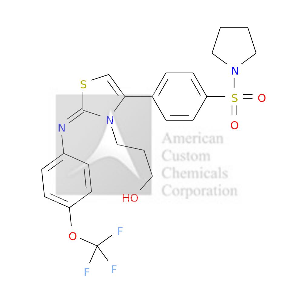 3-[(2E)-4-(4-PYRROLIDIN-1-YLSULFONYLPHENYL)-2-[4-(TRIFLUOROMETHOXY)PHENYL]IMINO-1,3-THIAZOL-3-YL]PROPAN-1-OL is now  available at ACC Corporation