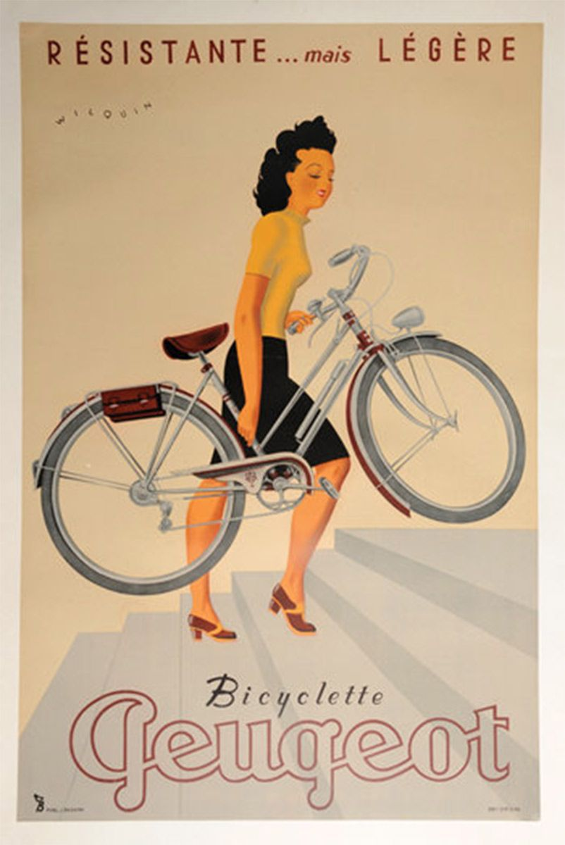 Vintage Bicycle Posters Foreshadow Car Ads | Vintage bicycles ...