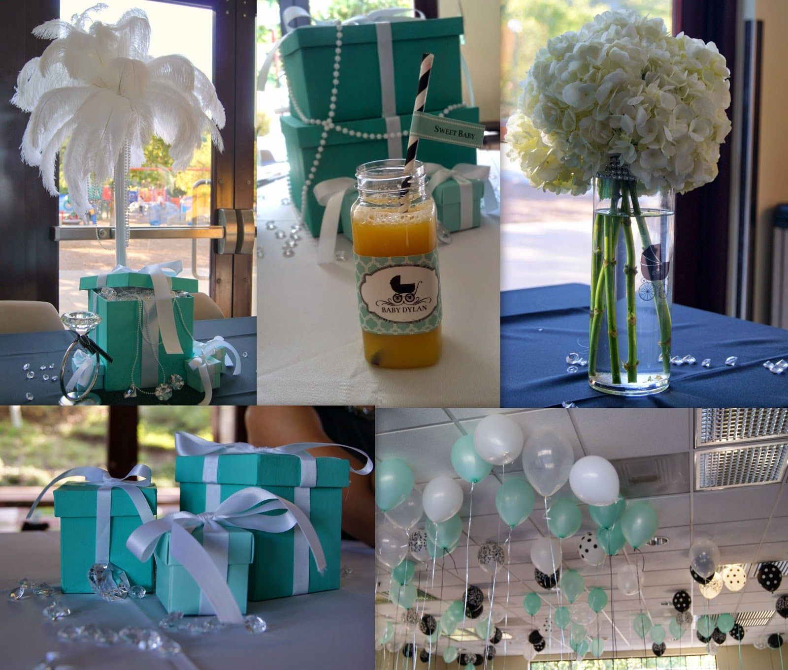 baby & co theme Breakfast at tiffany decor by