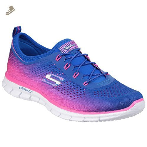 skechers blue and pink trainers