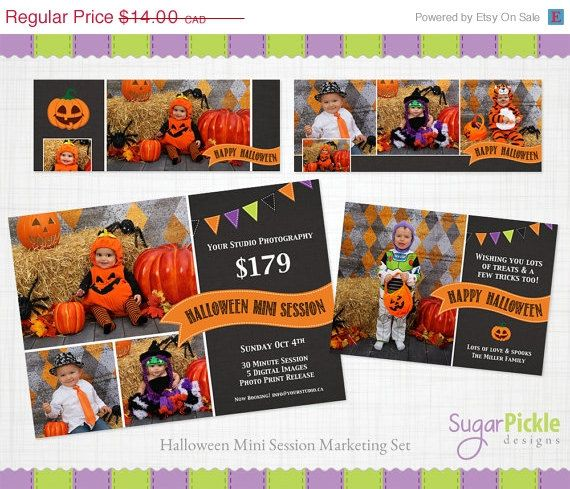 Halloween SALE Halloween Mini Session by SugarPickleDesigns, $8.00