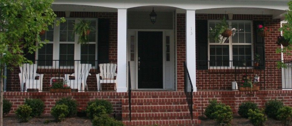 How To Decorate Brick Front Porches Nice Front Porch Design Idea