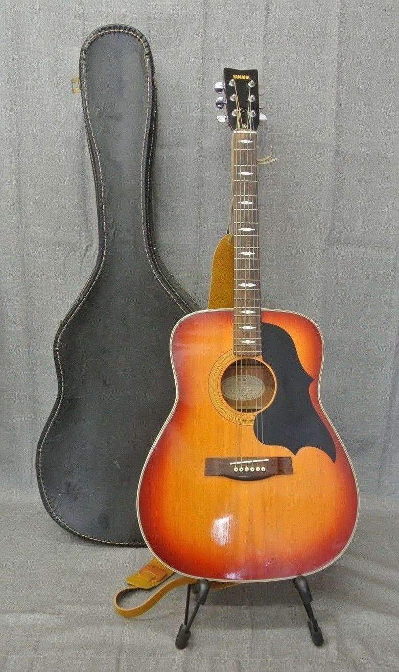 Vintage Yamaha Fg 336sb Sunburst Acoustic Guitar1978in Blk Case 235031 2 Yamaha Fg Yamaha Acoustic Guitar Acoustic