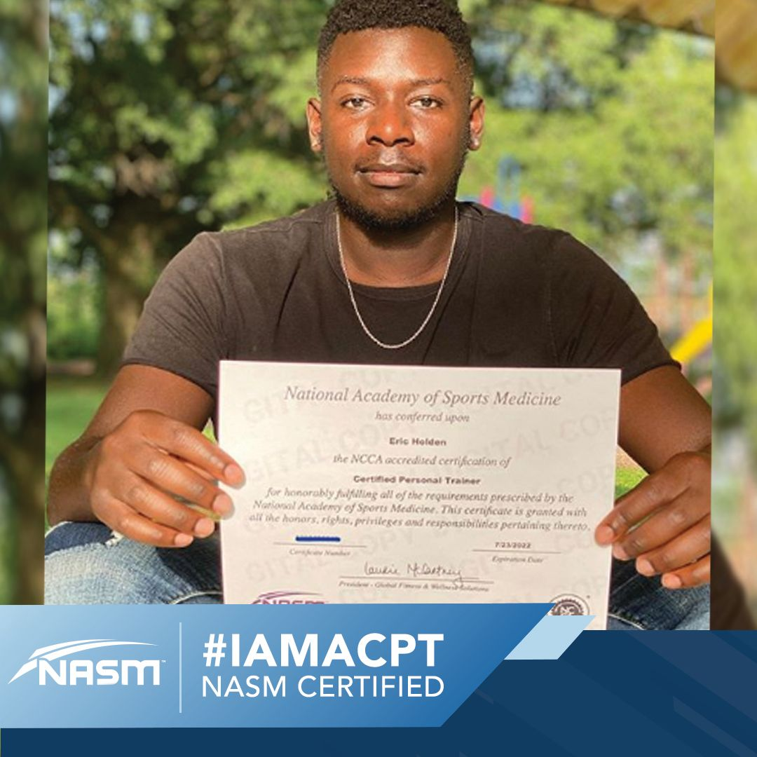 Iamacpt in 2020 certified personal trainer personal