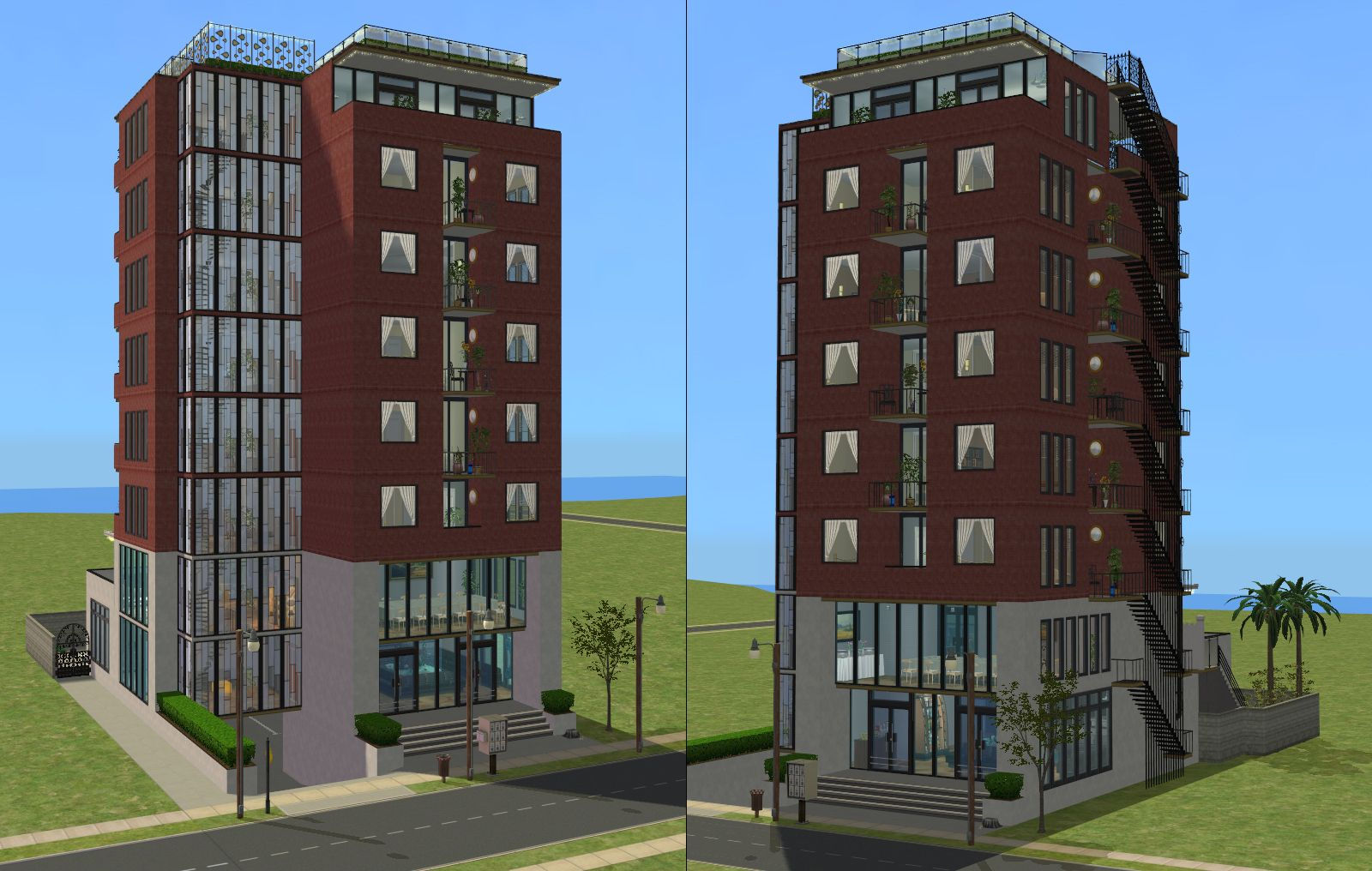 Mod The Sims Downtown Highrise Apartments Almost No Cc