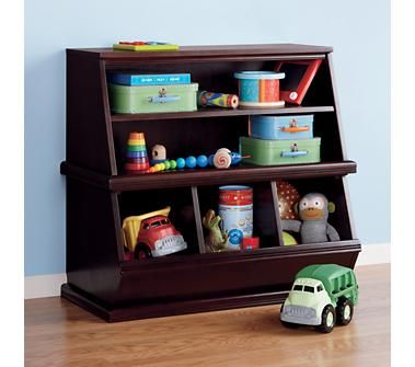 I Love The Combination Of Bookshelves On Top And Storage Bins At The Bottom Kids Toy Boxes Living Room Toy Storage Kids Storage Bins