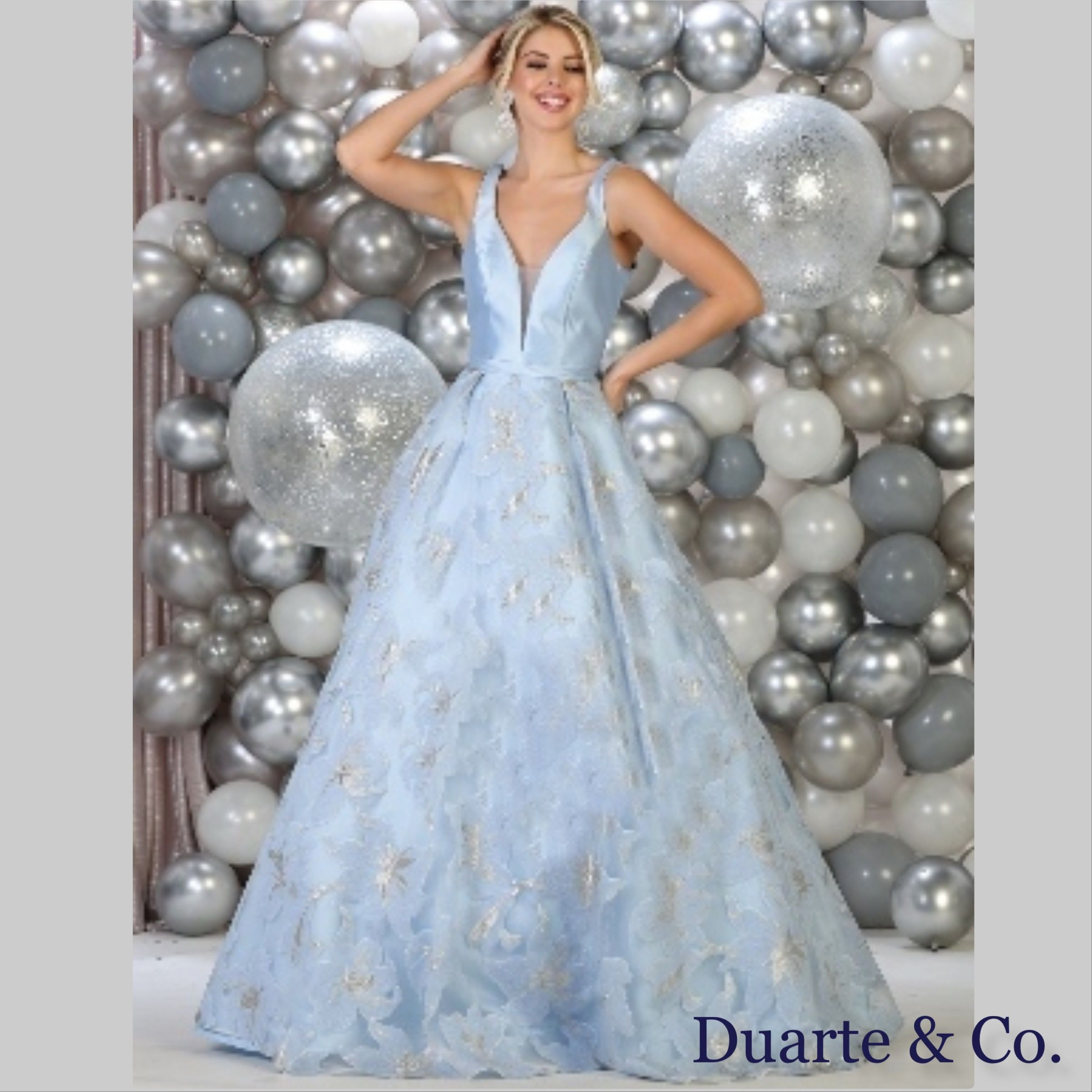 502ff18c6b6a DC177301 $230.00 Fantastic Floral Satin Ball Gown is made of satin on top  with a floral skirt made of mesh material with pockets.