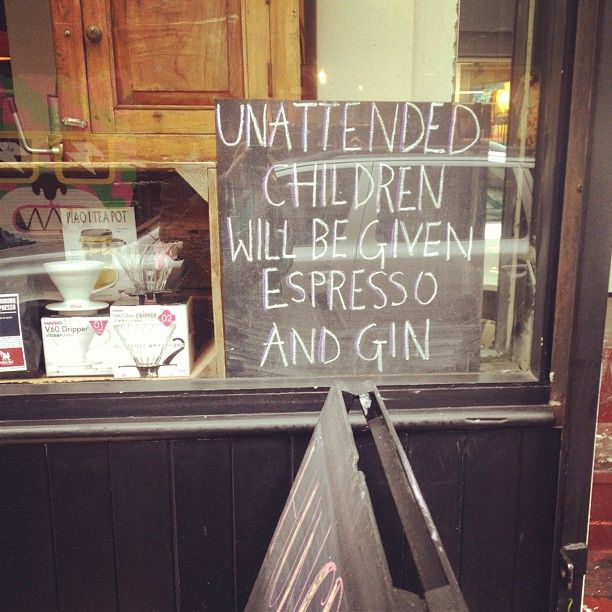 Haha - not sure which would be worse! Sign outside a cafe in Shoreditch, London