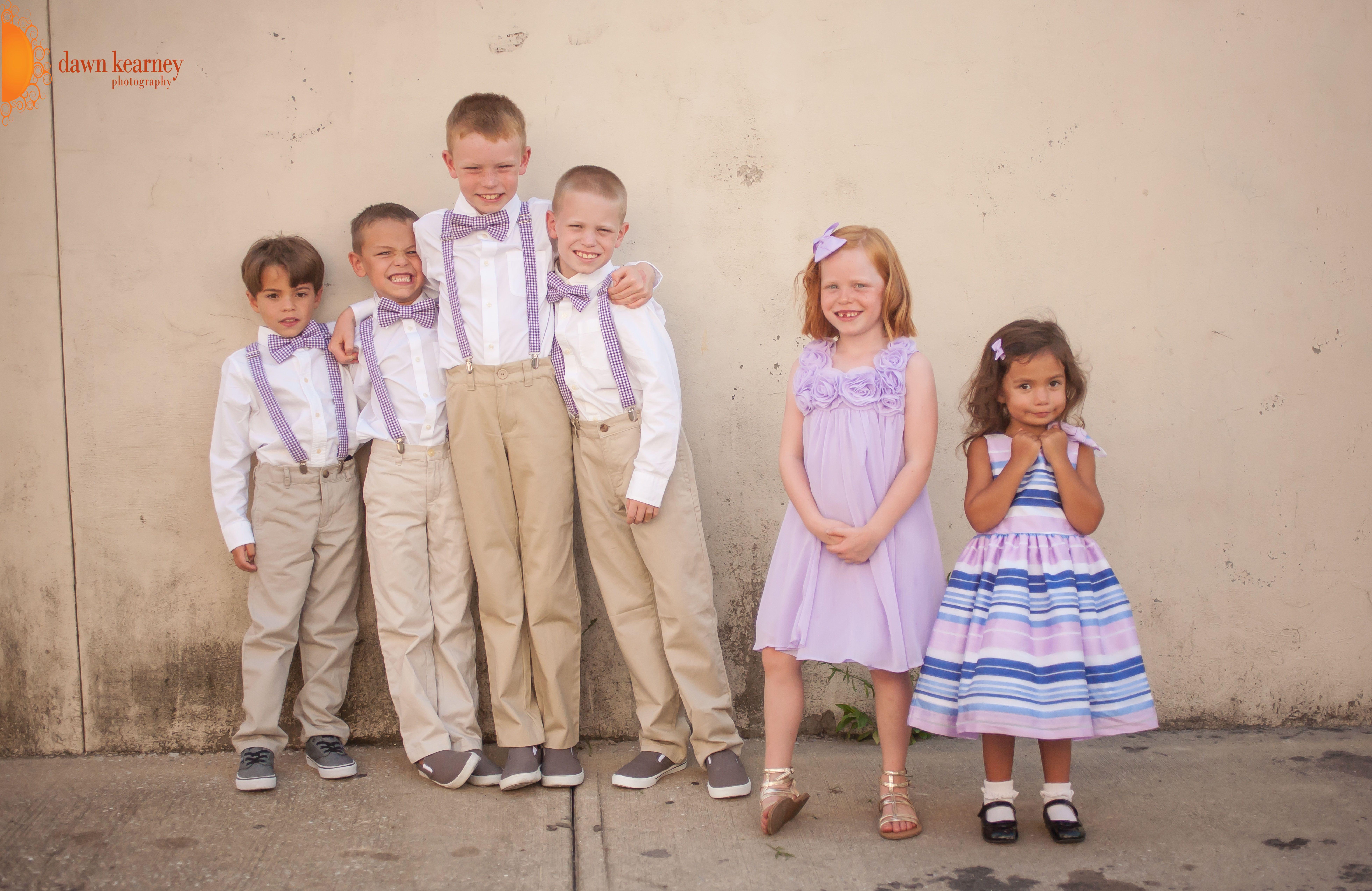 adorable kids at Theresa and Mickey's wedding