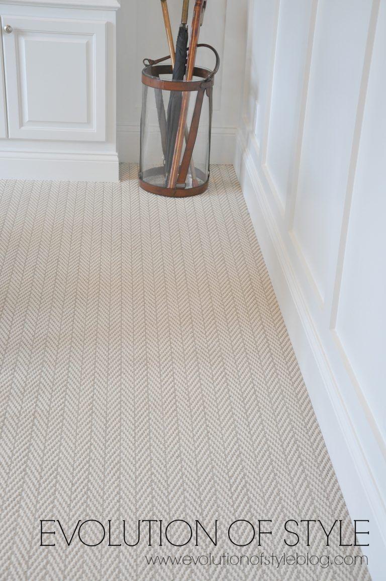 Herringbone Carpet For Playroom And Stair Runner