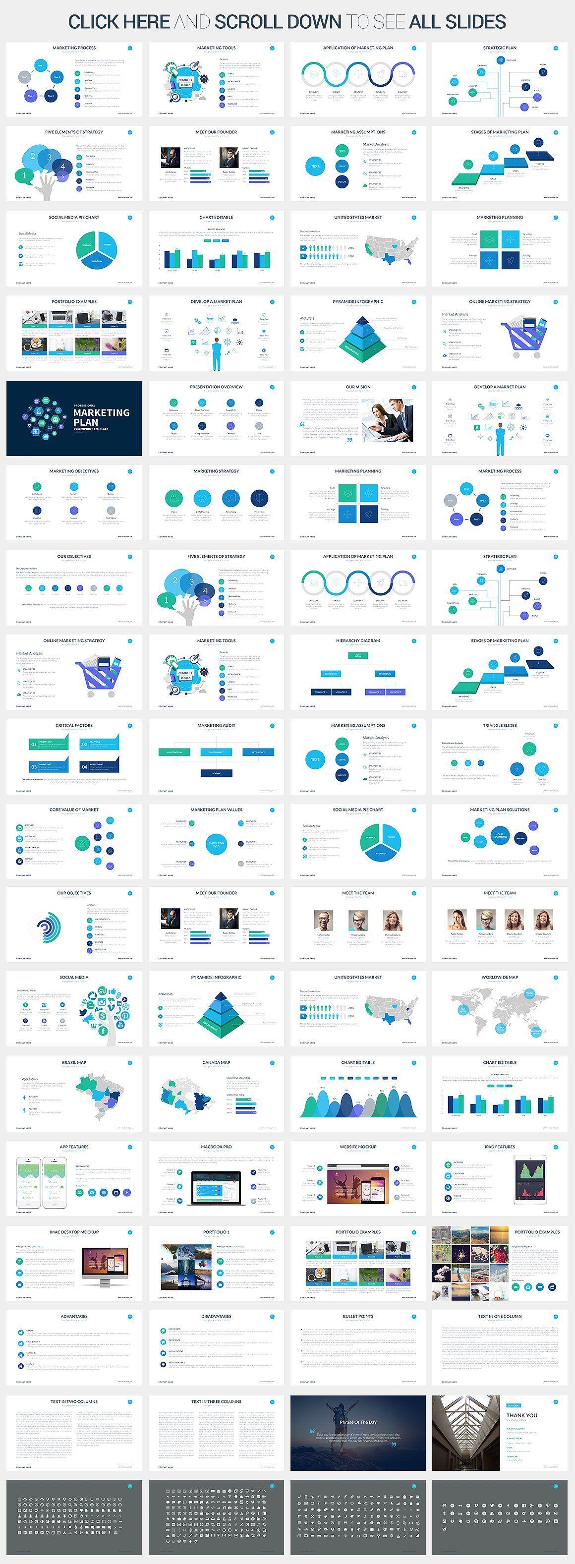 Marketing Plan - Keynote Template by SlidePro on @creativemarket ...