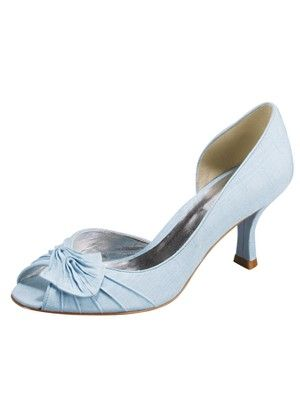 Powder Blue Low Dress Heel By Jaques Vert Fashion Oh