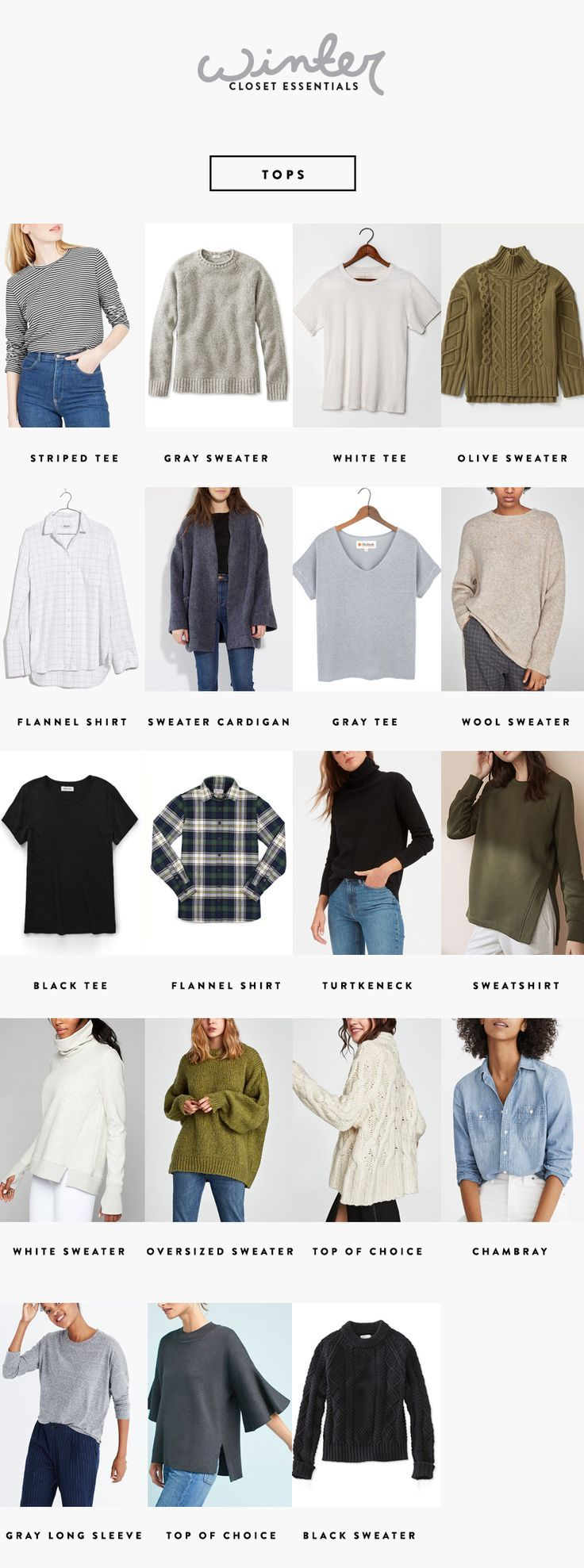 A Seasonal Closet Winter Wardrobe Essentials Winter