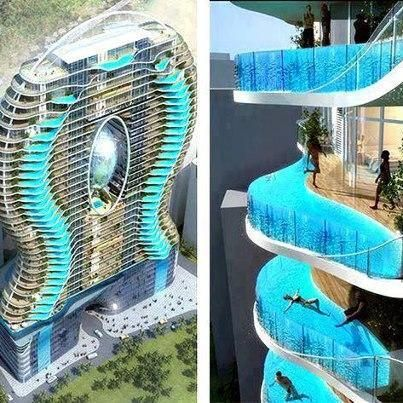 Bandra ohm residential tower in mumbai india is the one - Hotel with swimming pool on balcony ...
