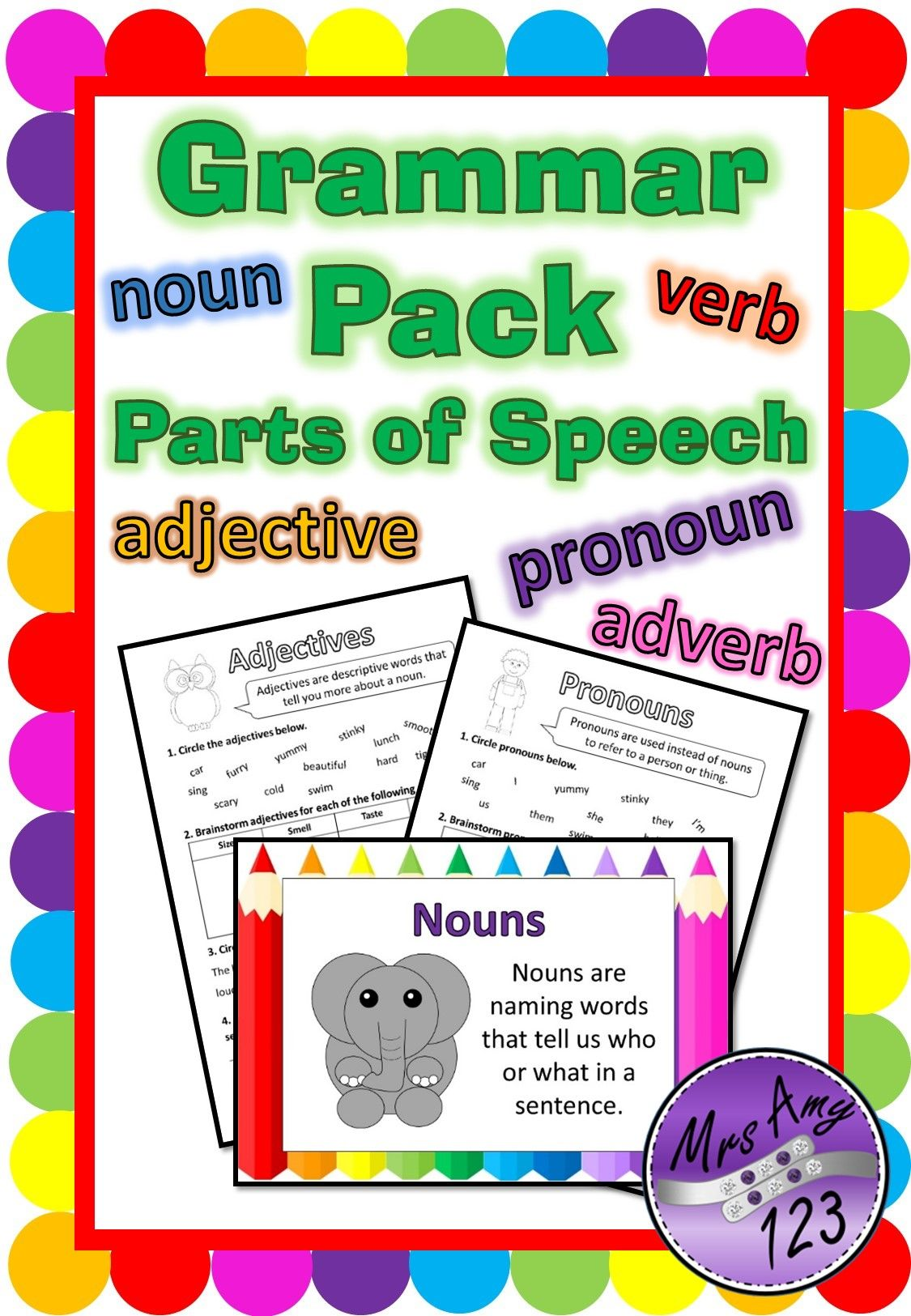 Punctuation Pack Parts Of Speech Worksheets And Posters