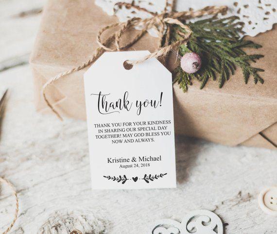 Printable Wedding Favor Tags Tag