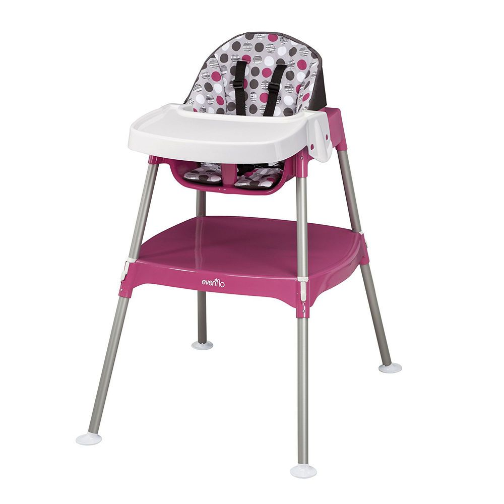 Baby High Chair Convertible 3 In 1 Highchair Table Seat Booster