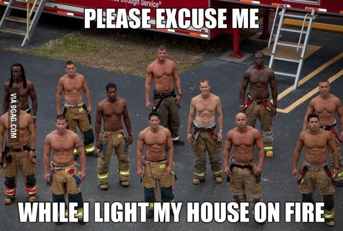 Hot firemen are hot
