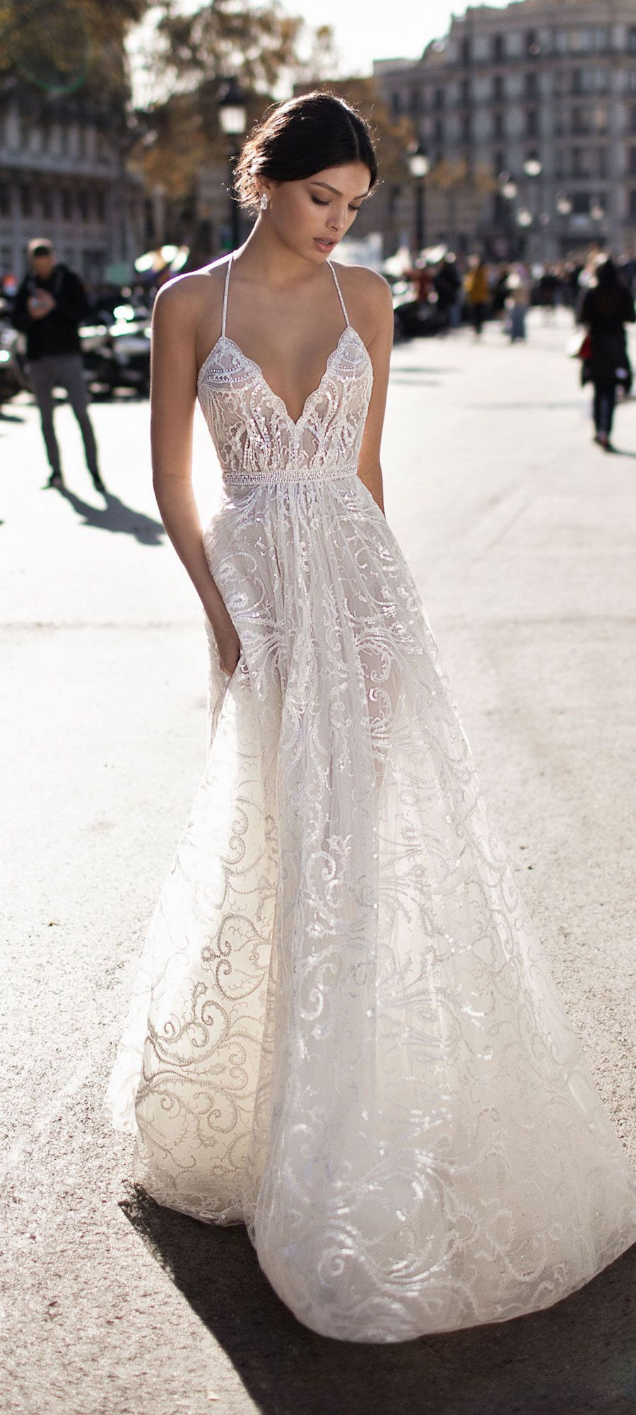 Halter style wedding dresses  Gali Karten Bridal  Wedding Dress  Boda  Pinterest  Wedding