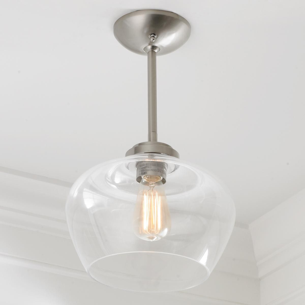 Quorum electra 8 light sputnik chandelier amp reviews wayfair - Convertible Bell Glass Semi Flush Pendant Light