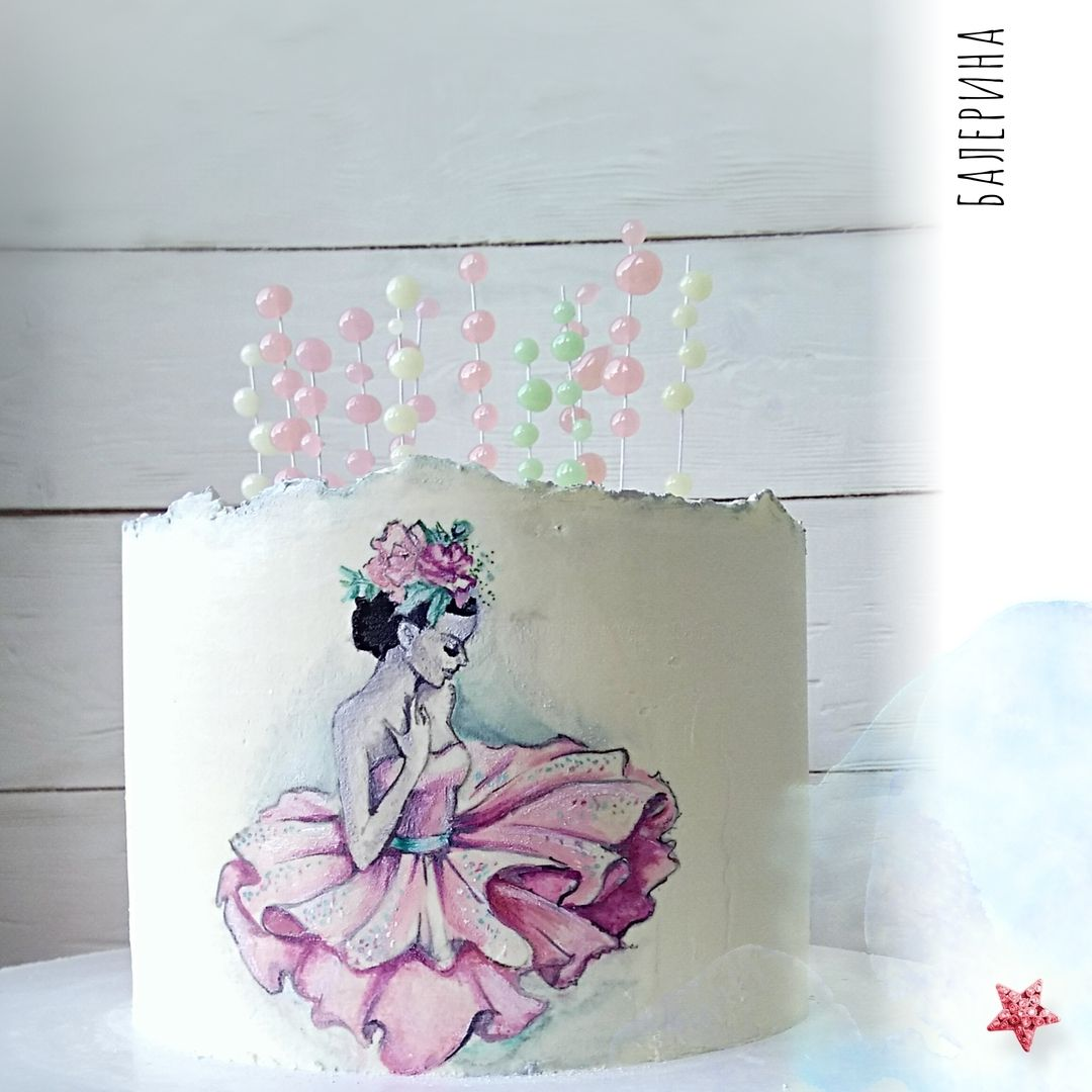 балерина картинка для печати на торт кадры давно