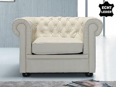 Color Beige Sofá En Chesterfield ChesterEscaparate Chair Piel 45A3jRL