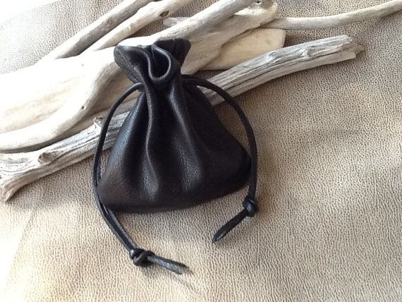 Men's Bag Leather Drawstring Pouch by Shirlbcreationstoo on Etsy ...