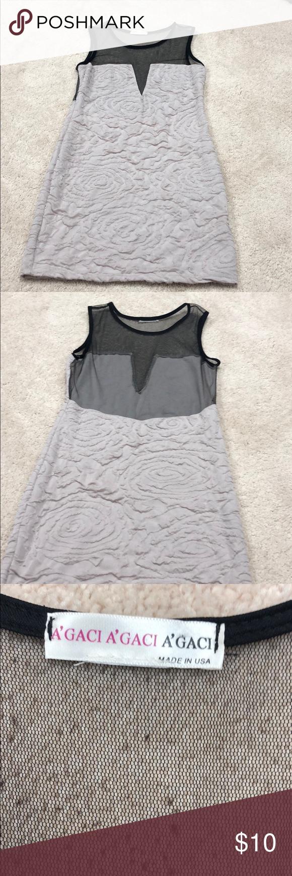 Beige and mesh dress