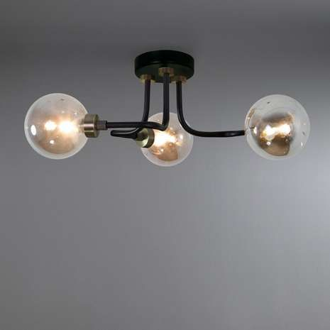 Tanner black 3 light ceiling fitting hallway lightingliving room lightingbathroom