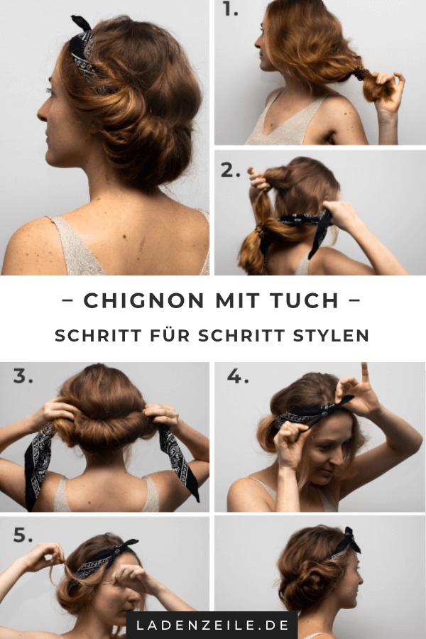 Haartucher Frisuren Schritt Fur Schritt Ladenzeile Haartuch Hippie Frisur Chignon