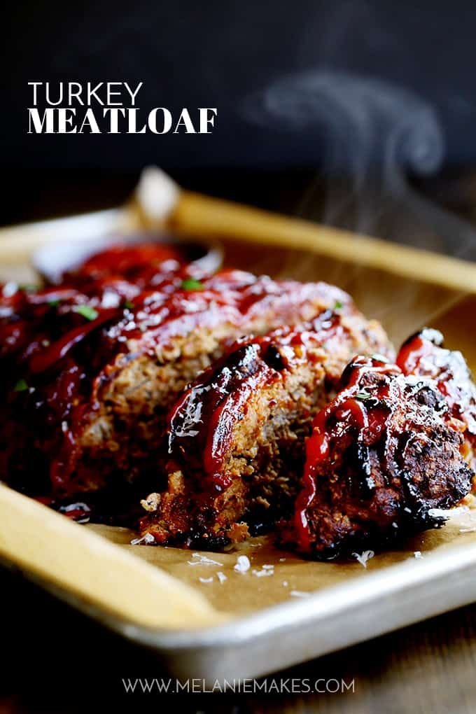 This Turkey Meatloaf takes just 10 minutes to prepare, yet will have you coming back for seconds (or thirds). This beef alternative meatloaf is anything but bland thanks to being seasoned with Parmesan cheese, oregano, basil and garlic. #turkey #meatloaf #comfortfood #ketchup #easyrecipe #easydinner #sundaysupper