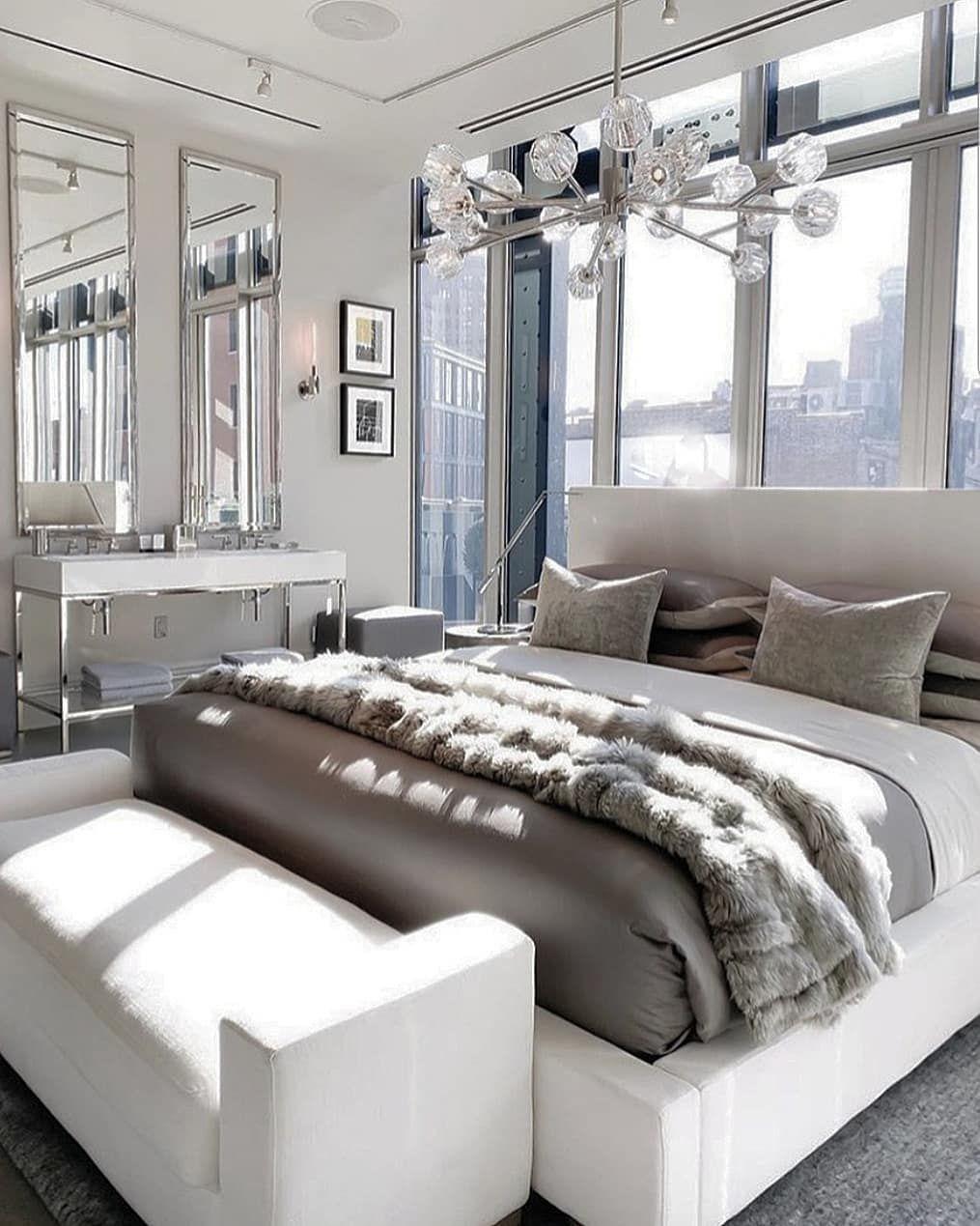 Bedroom goals!.. . By Restoration Hardware Via @elisesglamspace #lovefordesigns - All in One Blog #restorationhardware