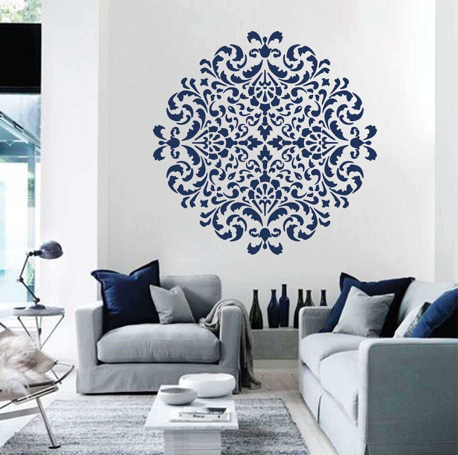 Wall stencil medallion mandala pattern for diy geometric mandala mandala moroccan stencil moroccan pattern for diy wall decor modern home stencils mandala wall art yoga amipublicfo Images