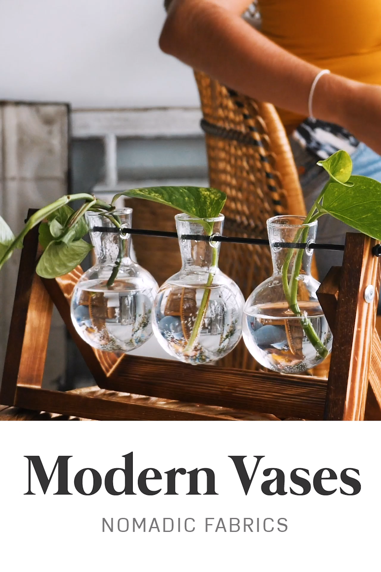 Nomadic Fabrics Hydro Vases -   19 diy Interieur plants ideas