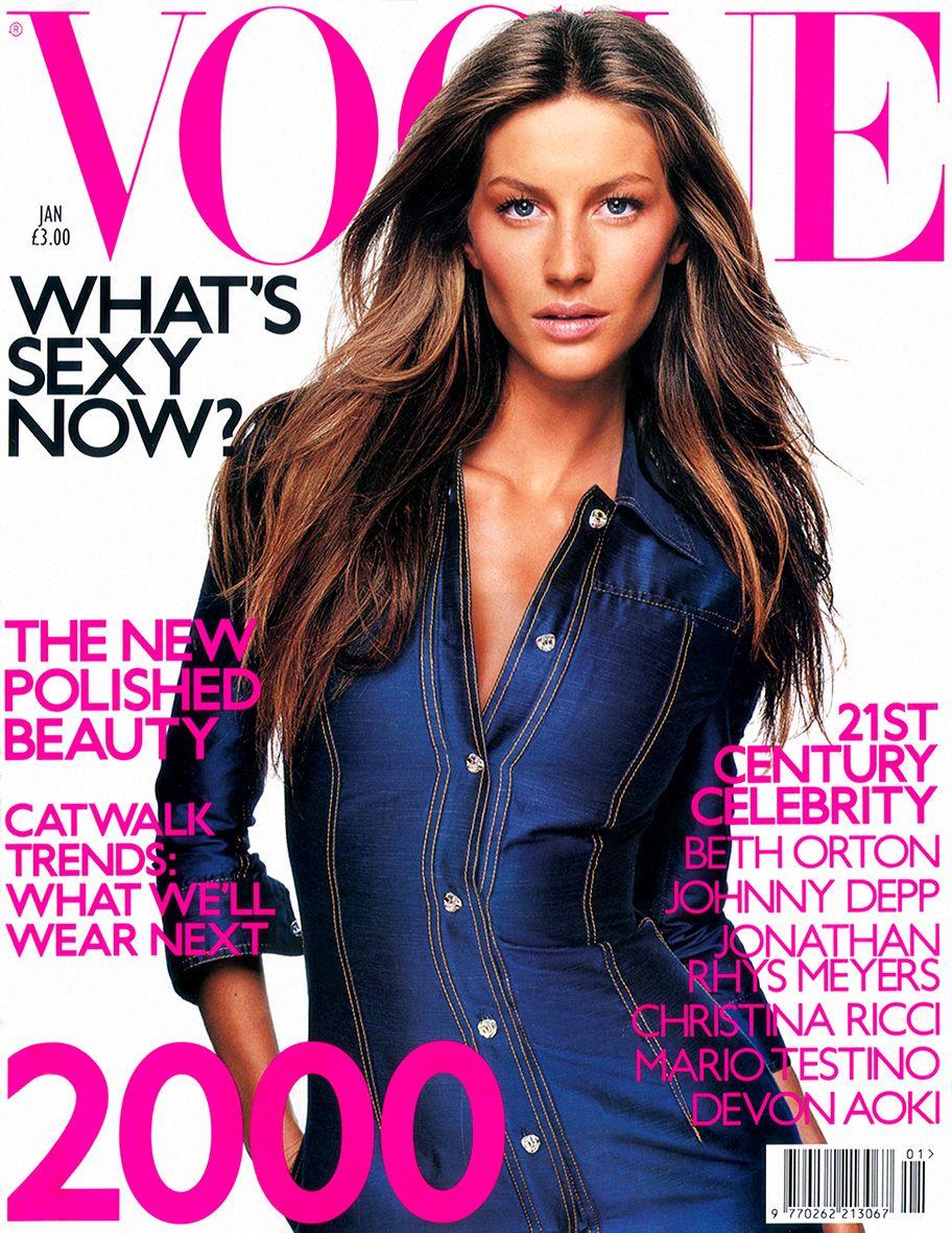 Gisele Bundchen by Tom Munro Vogue UK January 2000