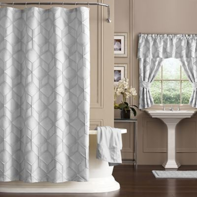 J Queen New York Horizons Shower Curtain In Ivory Geometric