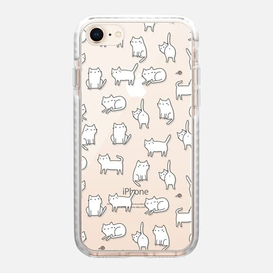 finest selection 9de83 94706 Casetify iPhone 8 Impact Case - Cute cats. Doodle hand drawn kittens ...