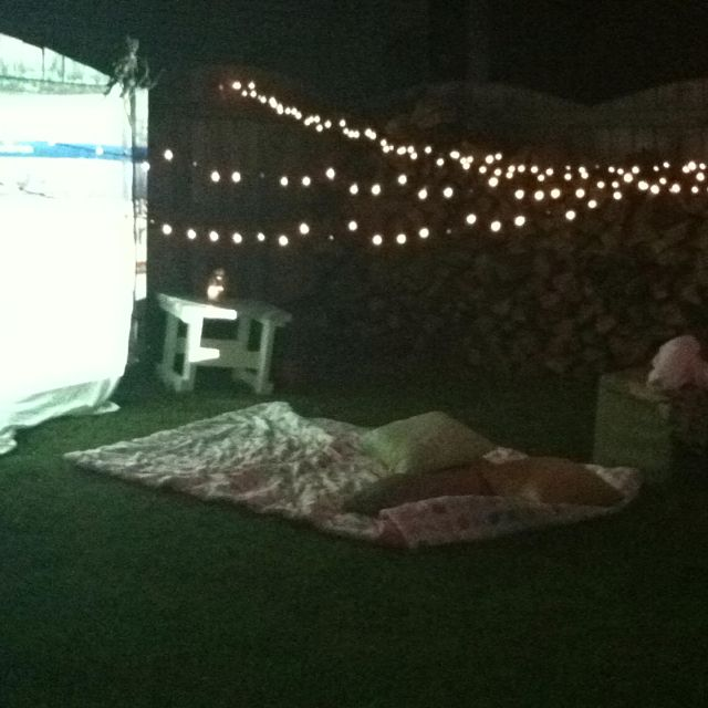Such A Romantic Idea Outdoor Movie Nights Backyard Movie Nights Romantic